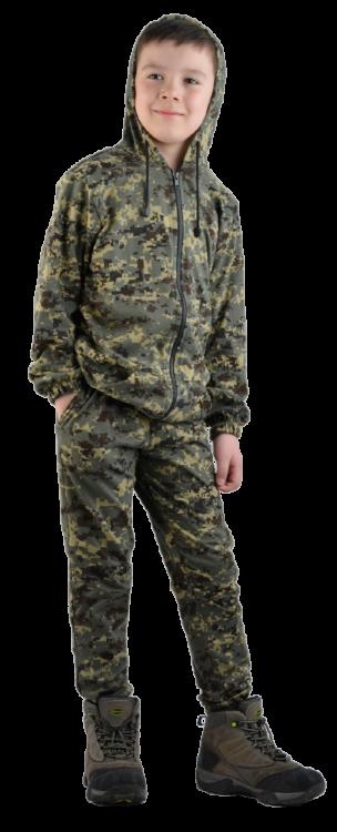 детский трикотажный камуфляжный тонкий костюм косдет121