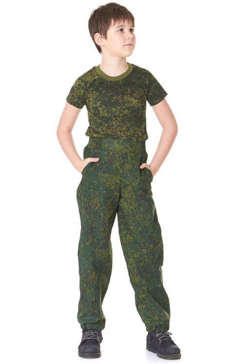 детские штаны камуфляжные цифра зеленая