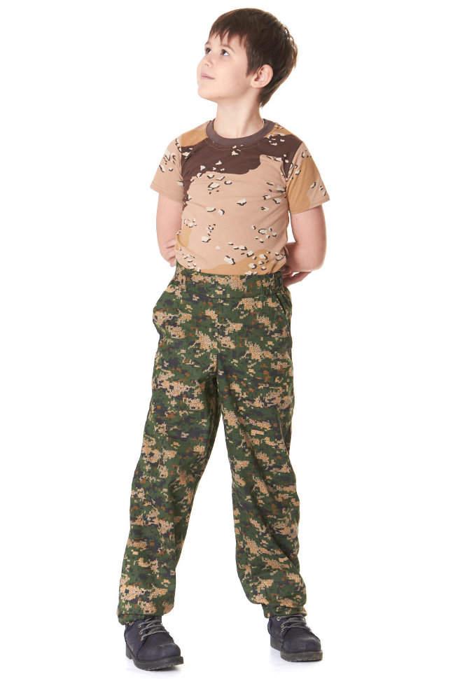 детские штаны цифра зелено-бежевая