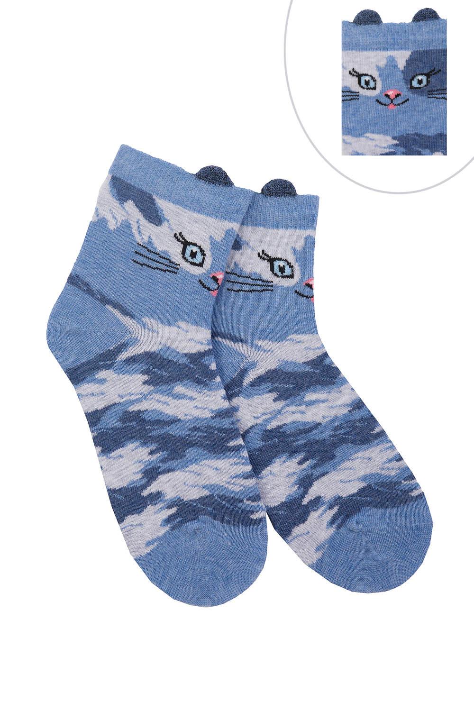 детские носки камуфляж котик
